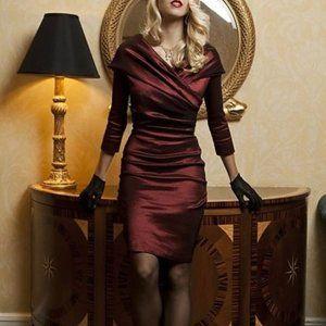 Shabby Apple Taffeta Red Carpet Evening Dress